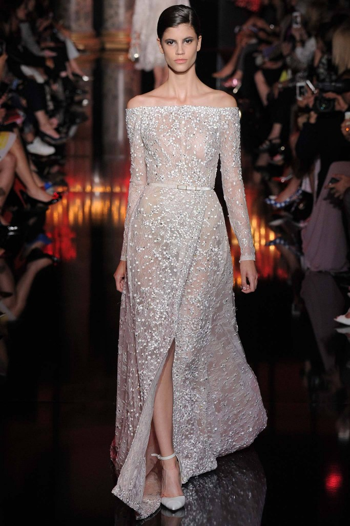 Elie Saab silver dress
