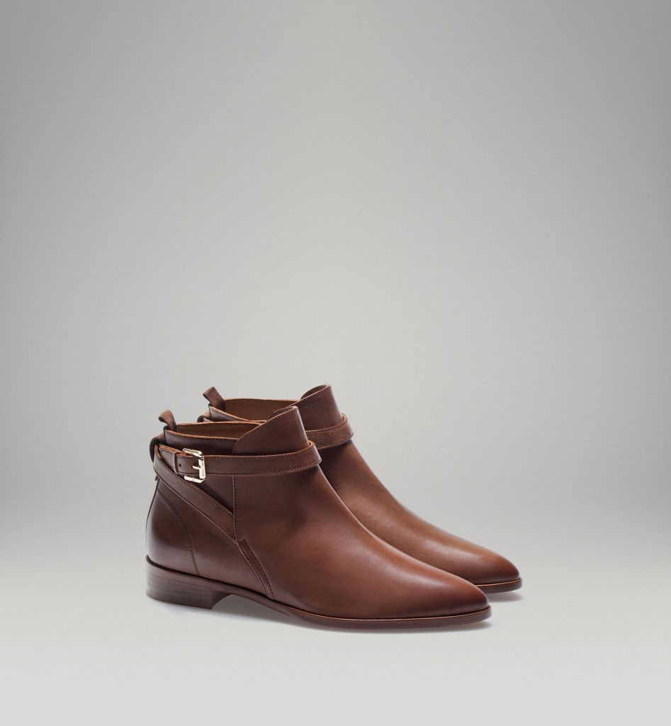 Massimo Dutti brown booties