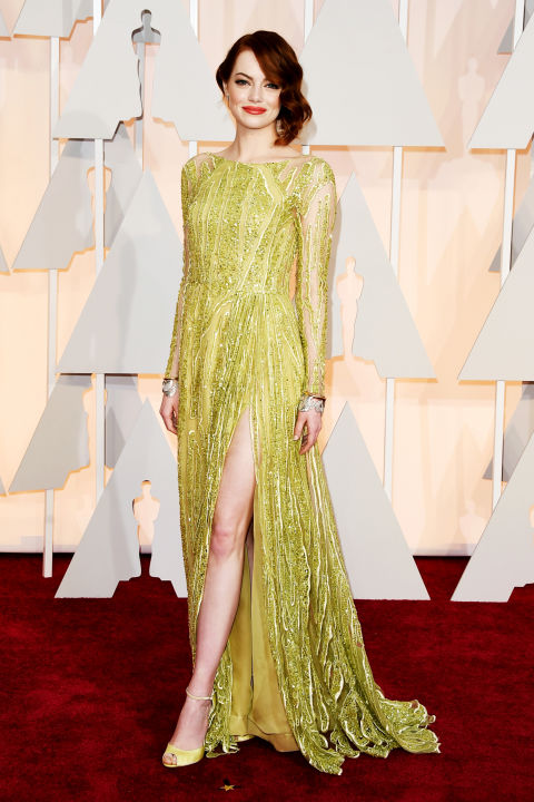 Emma Stone in Elie Saab Oscars 2015