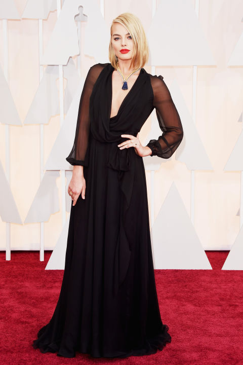 Margot Robbie Saint Laurent Oscars 2015