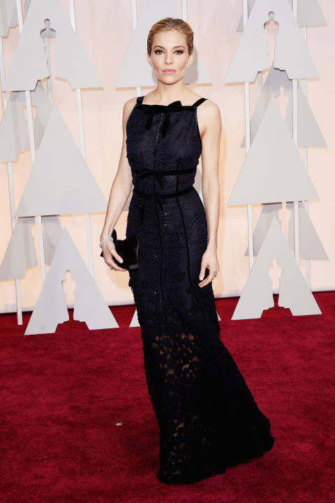 Sienna Miller Oscar de la Renta Oscars 2015