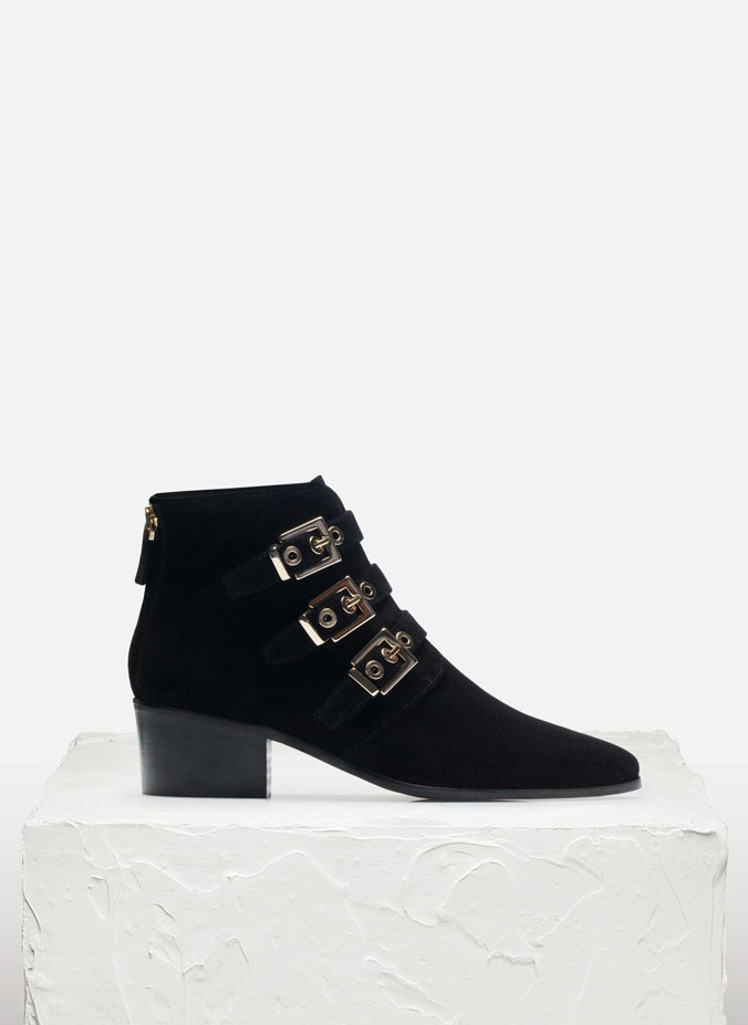 Uterque black ankle boots 2015