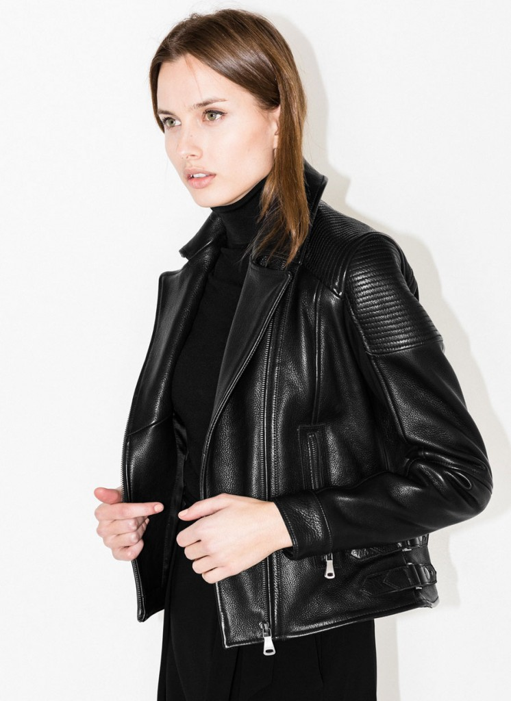 Uterque leather jacket 2015