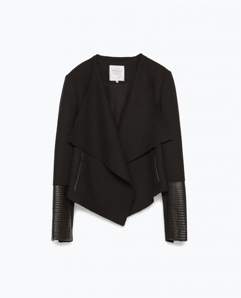 Zara black blazer spring 2015