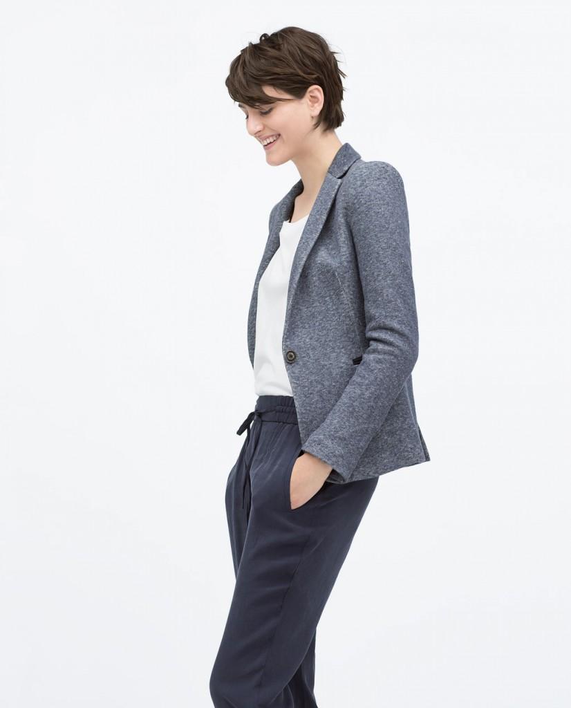 Zara blue blazer Spring 2015