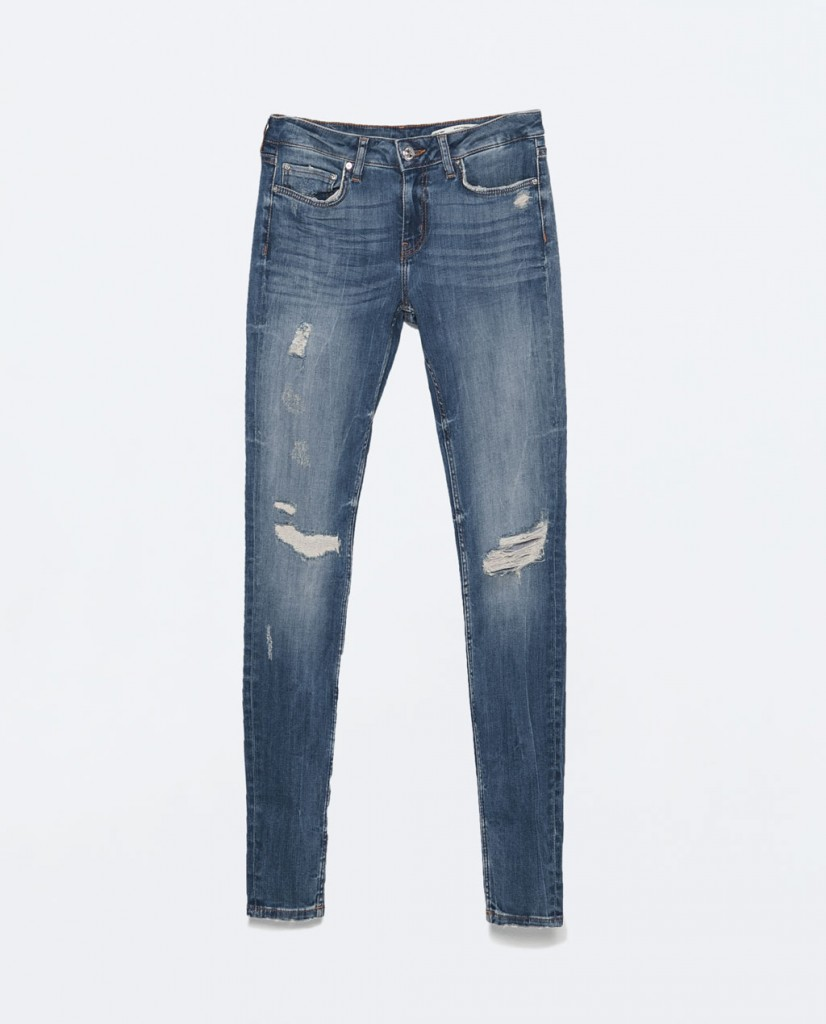 Zara distressed jeans spring 2015